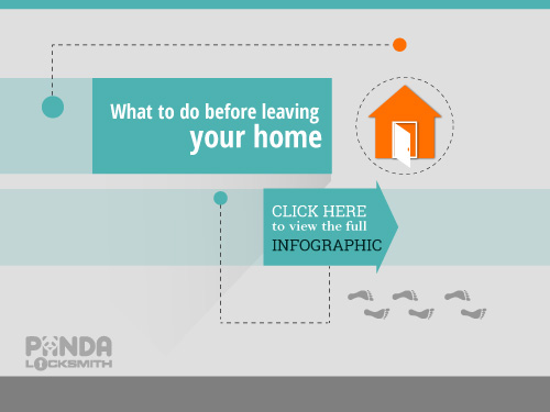 What to do before leaving your home